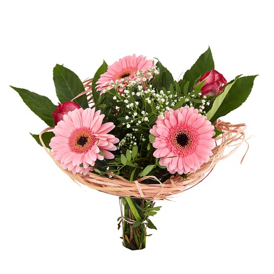 Bouquet of Pleasures - Gerberas, Roses