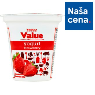 Tesco Value Strawberry Yogurt 125 g