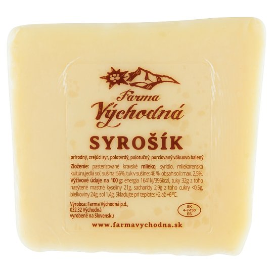 Farma Východná Syrošík prírodný zrejúci syr 0,180 kg