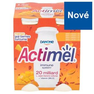 Danone Actimel Jogurtové mlieko s vitamínmi B6 a D - s mangom, kurkumou a goji 4 x 100 g