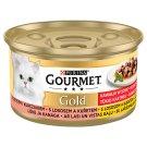 GOURMET Gold kúsky v šťave s lososom a kuraťom 85 g