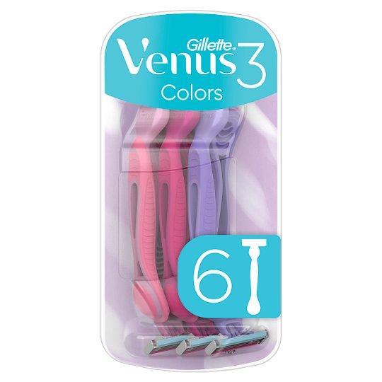 Gillette Venus3 Dámske Jednorazové Holiace Strojčeky, 6 Ks