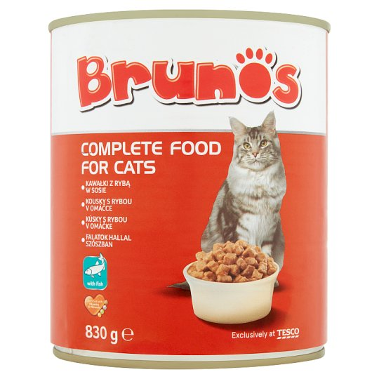 Brunos Complete Food for Cats with Fish 830 g