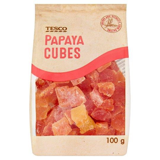 Tesco Papaya Cubes 100 g