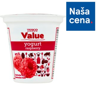 Tesco Value Raspberry Yogurt 125 g