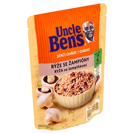 Uncle Ben's Stačí ohriať Rice with Mushrooms 250 g