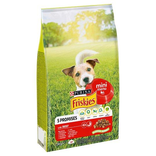 Friskies pre dospelých psov malých plemien Mini Menu s hovädzím 1,5 kg
