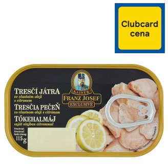 Kaiser Franz Josef Exclusive Cod Liver in Own Oil with Lemon 115 g
