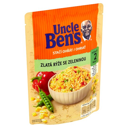 Uncle Ben's Stačí ohriať Golden Rice with Vegetables 250 g