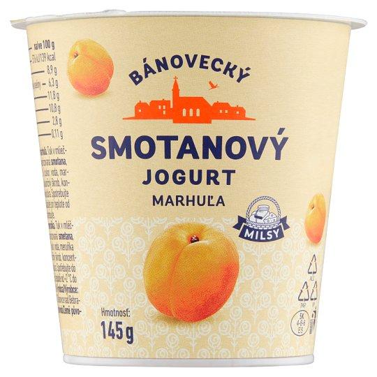 Milsy Bánovecký smotanový jogurt marhuľa 145 g