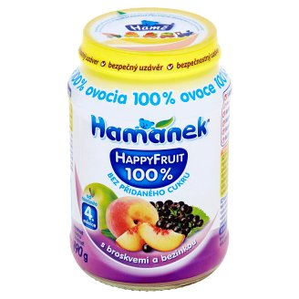 Hamánek Happy Fruit S broskyňami a bazou čiernou 190 g