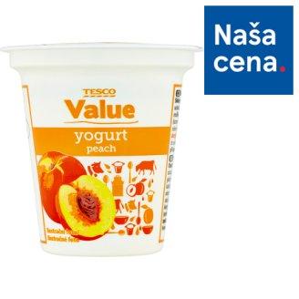 Tesco Value Nízkotučný jogurt s broskyňovou príchuťou 125 g