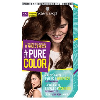 Schwarzkopf Pure Color farba na vlasy Zlatistá Hnedá 5.5