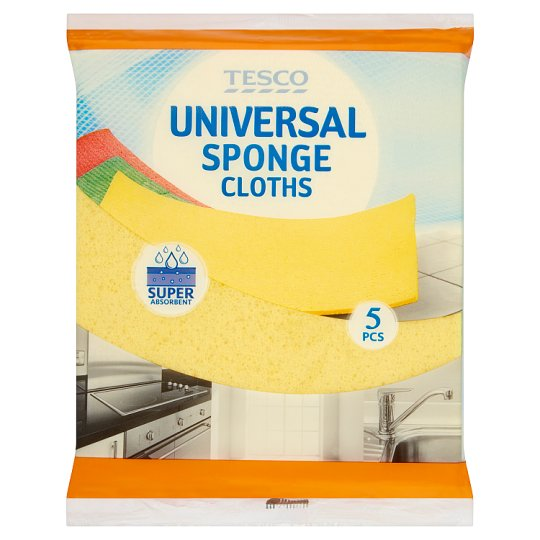 Tesco Universal Sponge Cloths 5 pcs