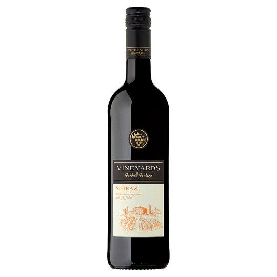 Vineyards World Wines Shiraz červené víno suché 750 ml