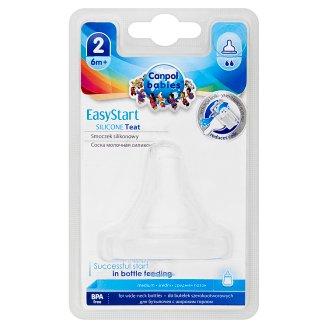 Canpol Babies EasyStart Silikónový cumlík, široký, stredný 6m+
