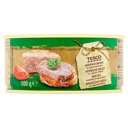 Tesco Bravčové mäso vo vlastnej šťave 300 g