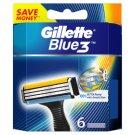 Gillette Blue3 Náhradné Hlavice Na Holiaci Strojček, 6 Kusy
