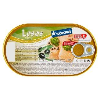 Sokra Filety z lososa v olivovom oleji 170 g