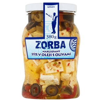 Zorba Pickled Cheese in Oil with Olives 380 g