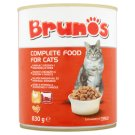 Brunos Complete Food for Cats with Poultry and Beef 830 g