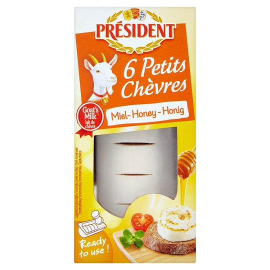 Président Semi-Soft Unripened Half-Fat Goat Cheese with Honey 100 g