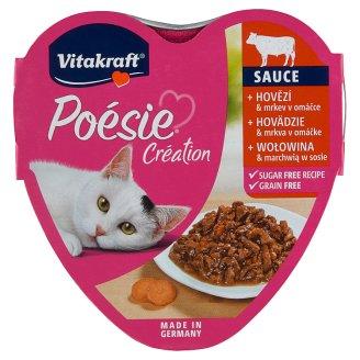 Vitakraft Poésie Sauce + hovädzie & mrkva v omáčke 85 g