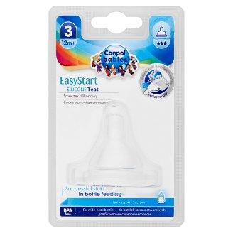 Canpol Babies EasyStart Silikónový cumlík, široký, rýchly 12m+