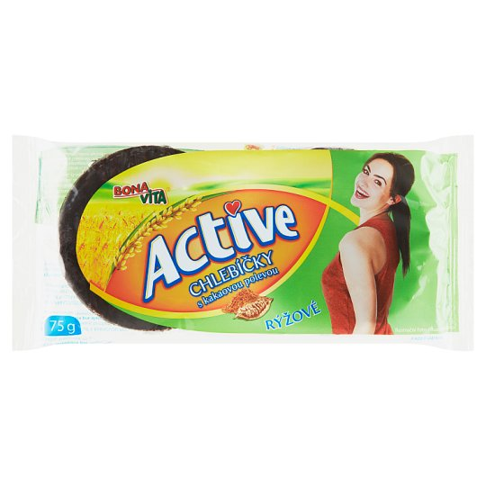 Bona Vita Active Rice Sandwiches with Cocoa Topping 75 g