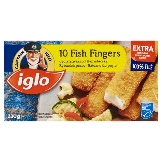 Iglo 10 Fish Sticks Deep Frozen 280 g