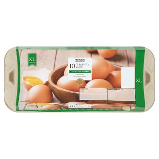 Tesco Čerstvé vajcia XL 10 ks