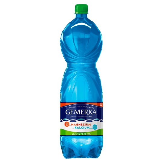 Gemerka Magnesium + Calcium Natural Mineral Water Gently Sparkling 2 L