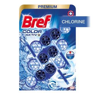 Bref Blue Aktiv Chlorine tuhý WC blok 3 x 50 g