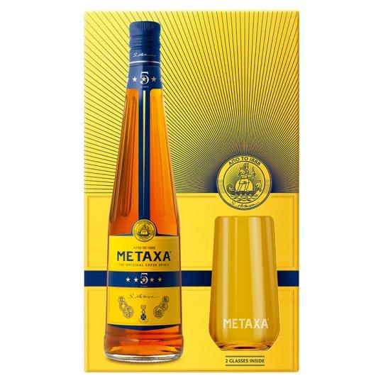 Metaxa 5* 700 ml + 2 Cups