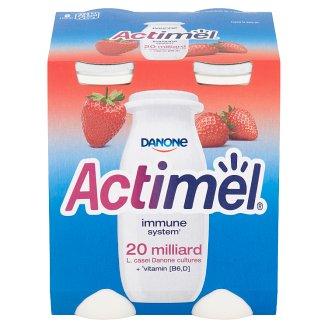 Danone Actimel Yoghurt Milk with Vitamins B6 and D - Strawberry 4 x 100 g