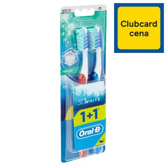 Oral-B 3D white fresh manuálna zubná kefka 1 + 1 ks