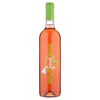 Jahodové víno polosladké 0,75 l