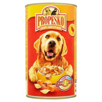 Propesko Pieces of Chicken Pasta and Carrot Complete Food for Adult Dogs 1240 g