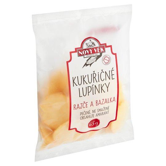 Nový Věk Kukuričné lupienky s príchuťou paradajka a bazalka 65 g