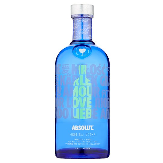 Absolut Vodka 40% Limitovaná edícia Drop of Love 0,7 l