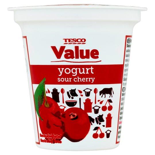 Tesco Value Sour Cherry Yogurt 125 g