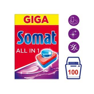 Somat All in 1 Prostriedok na automatické umývanie riadu 100 tabliet 1800 g