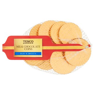 Tesco Milk Chocolate Coins 72 g