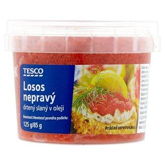 Tesco Losos nepravý drtený slaný v oleji 125 g
