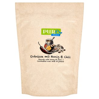 Pure Snack Roasted Peanuts with Honey, Salt and Chilli Flavour 125 g