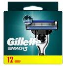Gillette Mach3 Náhradné Holiace Hlavice, 12 Ks