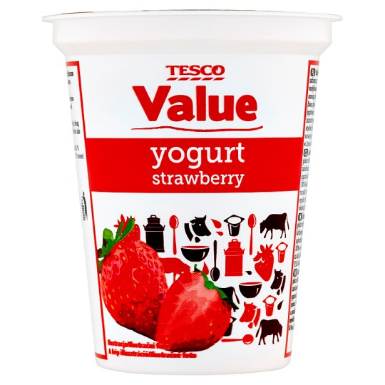 Tesco Value Strawberry Yogurt 330 g