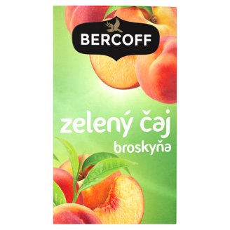 Bercoff Klember Green Flavoured Green Tea with Peach 20 x 1.5 g