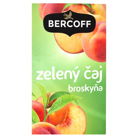 Bercoff Klember Green Flavoured Green Tea with Peach 20 x 1.5 g