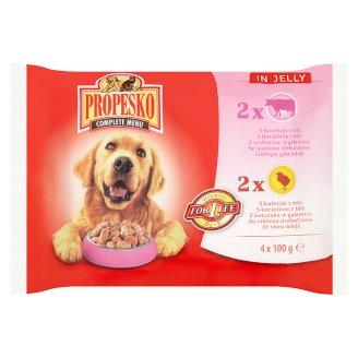Propesko Kompletné krmivo pre dospelých psov 4 x 100 g